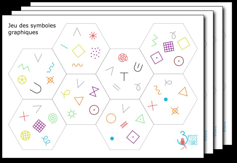 Cartes du jeu des symboles graphiques