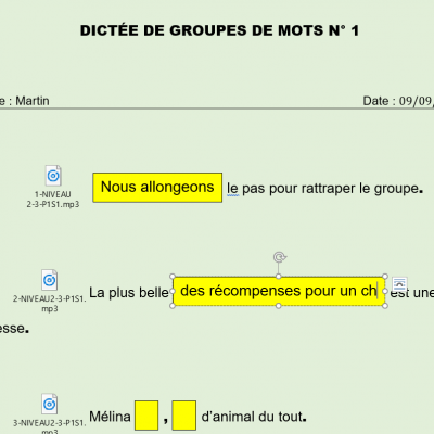 Exercices version numerique