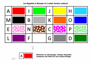 Les etiquettes couleurs